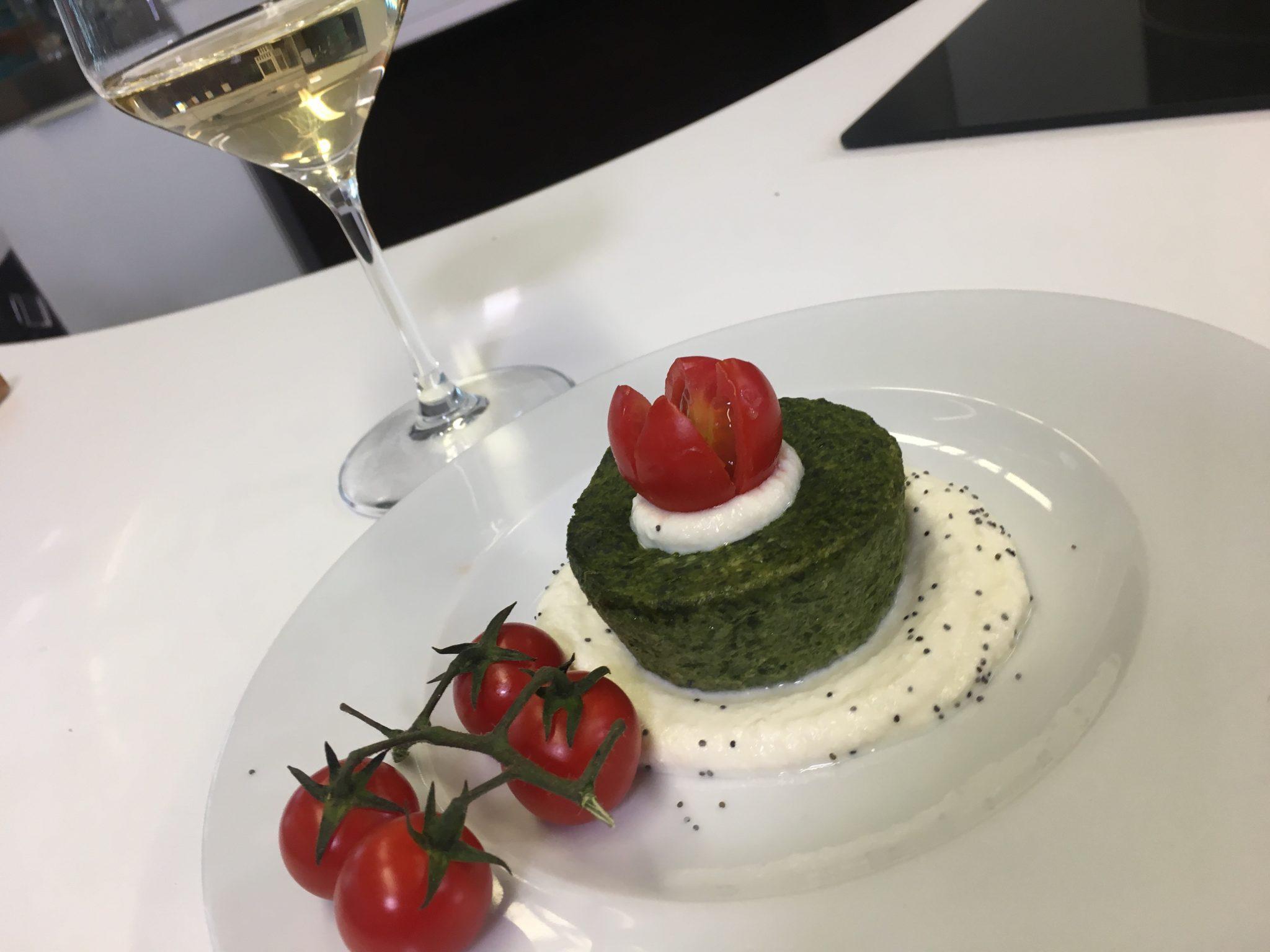 budino di spinaci
